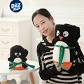 Volumen de la serie de dibujos animados lindo de santa claus snowman manta juguetes pingüino de peluche almohada del bebé manta de los niños regalos de navidad