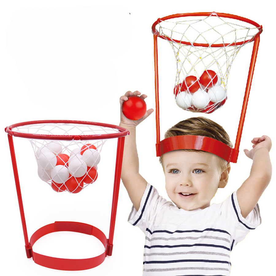 Outdoor Fun Sports Entertainment Basket Ball Case Headband Hoop Game Parent-child Interactive Funny Sports Toy Family Fun Game