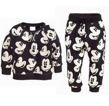 Boutique Baby Boys Clothing Sets Autumn Winter Boy Set Sport Suits Mickey For Boys Sweater Shirt Pants 2 Pieces Kids Clothes(China)