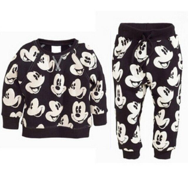 Boutique Baby Jongens Kleding Sets Herfst Winter Jongen Set Sport Past Mickey Voor Jongens Trui Shirt Broek 2 Stuks Kids kleding