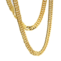 Massive Mens Jewlery Yellow Gold Filled Double Curb Chain Necklace 60cm Long