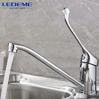 LEDEME High Quality Faucet Brass Kitchen Mixer Cold And Hot Single Handle Kitchen Water Tap Kitchen