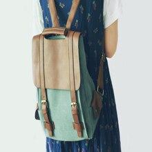 Пой лес Стиль винтажные женские Рюкзак Японский Стиль панелями Harajuku Холст Рюкзак Свежий Простой дорожная сумка и школьный