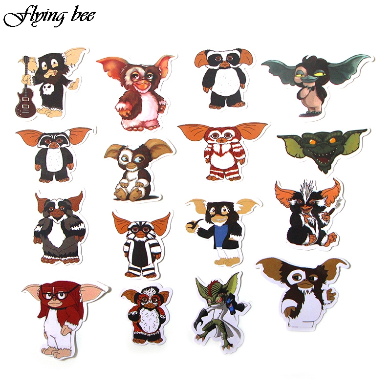Image 4 - Flyingbee 66 Pcs Gremlins Anime Sticker Decals Scrapbooking Stickers for DIY Luggage Laptop Car Phone Skateboard Graffiti X0019-in Stickers from Consumer Electronics
