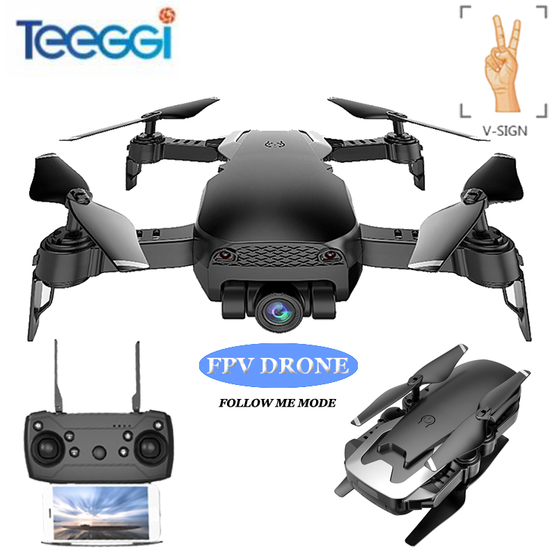 Teeggi M69S FPV Selfie Dron Foldable RC Drone with 720P HD Camera WiFi Optical Flow Positioning Quadcopter VS VISUO XS809HW X12 rc drone foldable aircraft helicopter fpv wifi rc quadcopter 2 4ghz remote control dron with hd camera vs visuo xs809w xs809hw