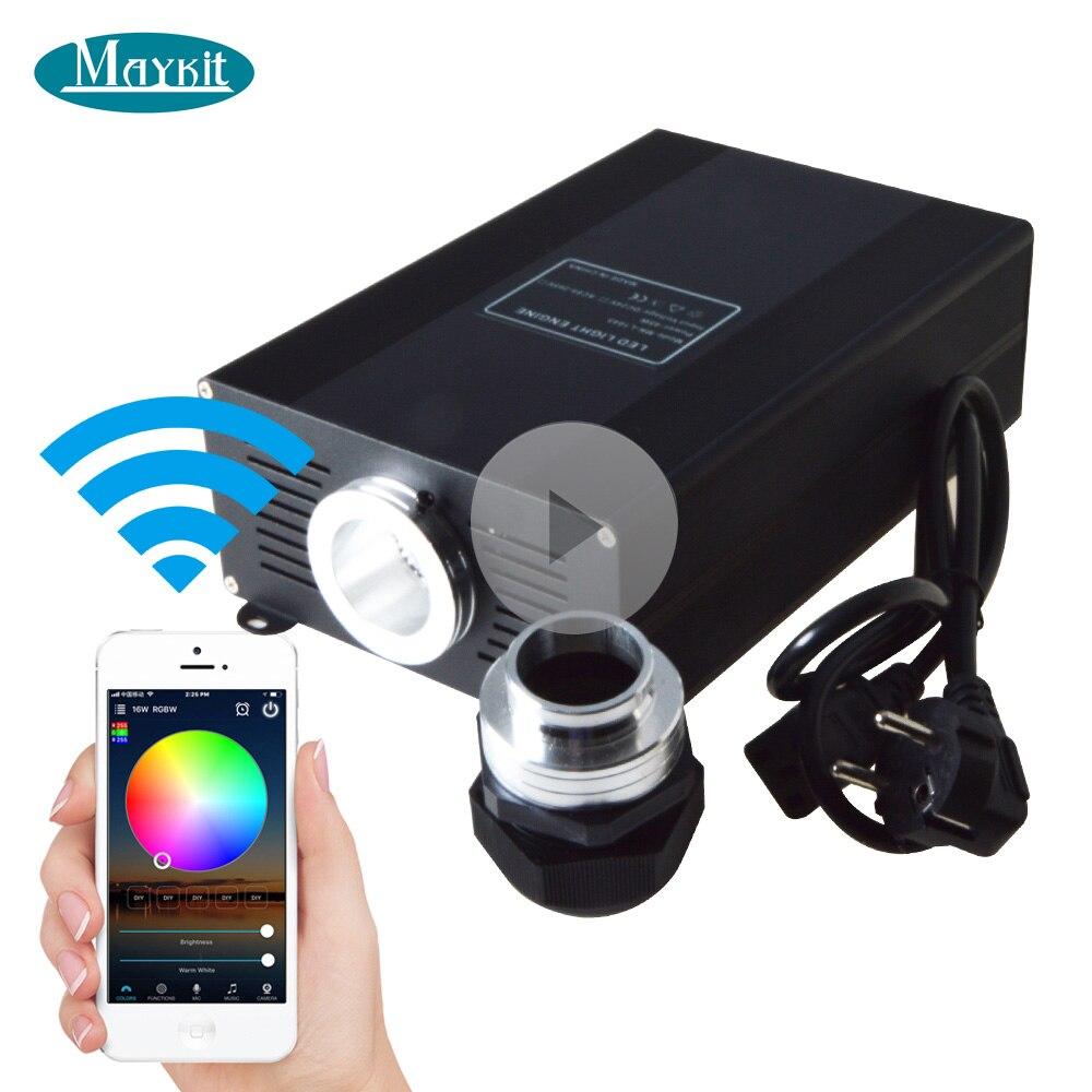 メイキット45W 60W 75W WiFiコントロールスマートフォンAPP RGB RGBW LED光ファイバーライトエンジンプロジェクタージェネレータースマートフォン