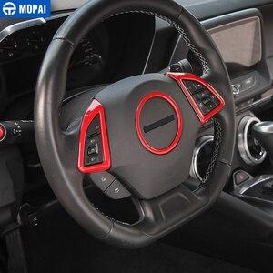 Image 4 - MOPAI ABS voiture intérieur volant décoration couverture garniture autocollants pour Chevrolet Camaro 2017 Up voiture accessoires style