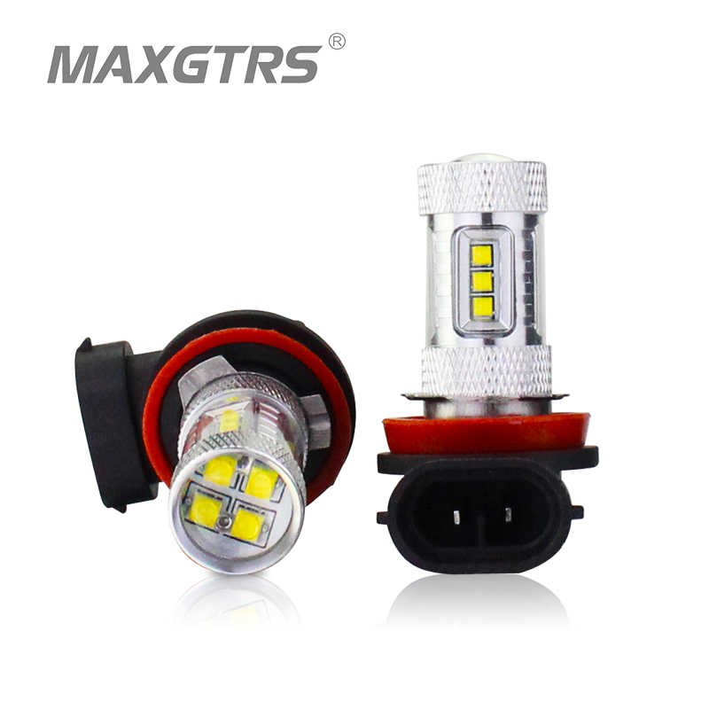 2x H8 H11 9005 9006 H16 CREE Chip LED White/Red/Yellow Car Fog Headlight Replacement Bulb DRL Auto Driving Daytime Running Light