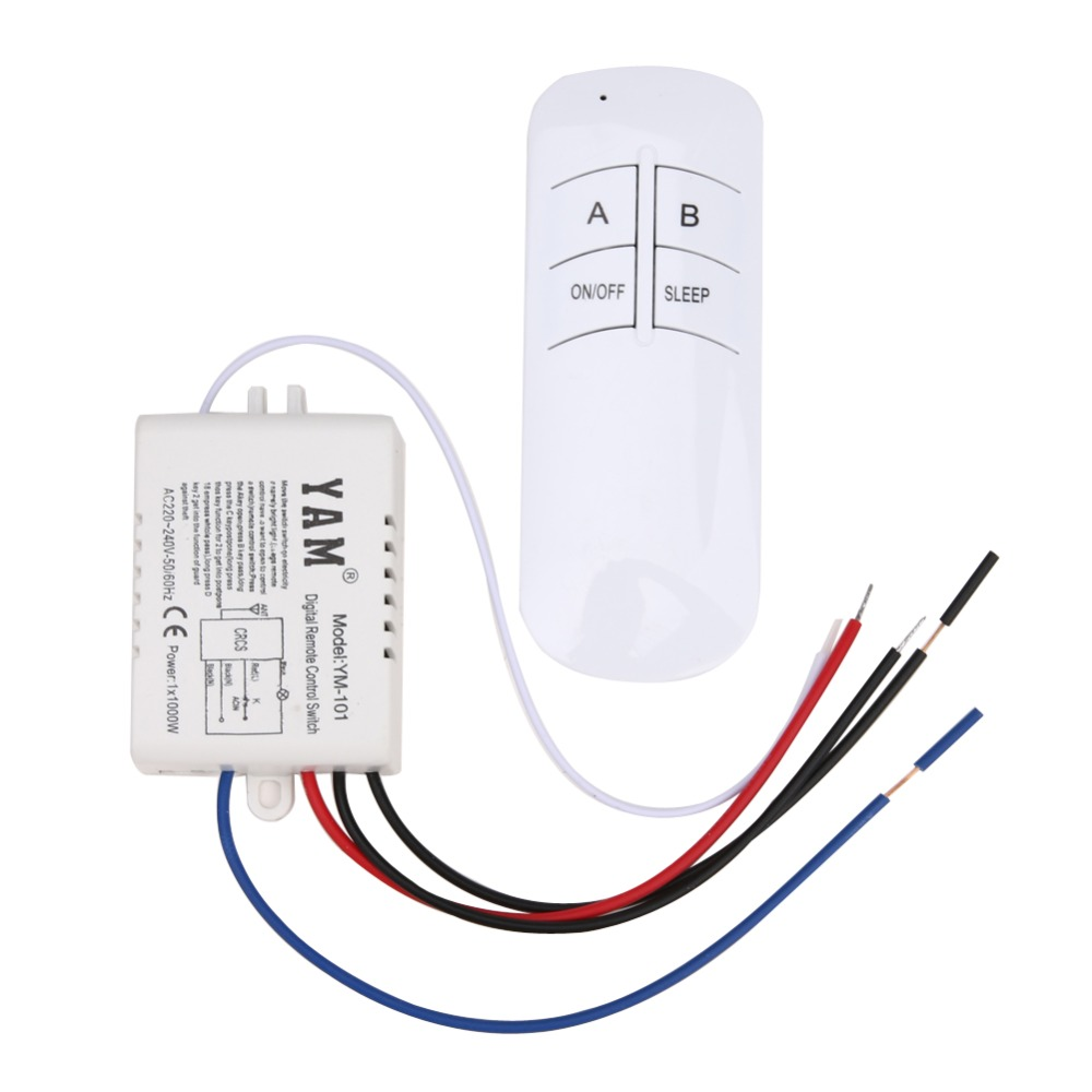 2019 Newest Wireless ON/OFF <font><b>1</b></font> Ways 220V Lamp Remote Control Switch Receiver and Emitter Transmitter for droplight/<font><b>crystal</b></font> lamp image