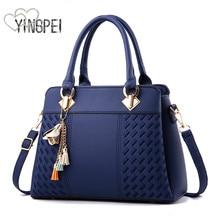 Femei Messenger Pungi Capacitate mare femei Femei Pungi de umăr Tote Bags bolsos Cu Tassel Designeri celebri Genți de mână din piele mare