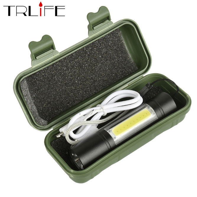 3800LUMS Built-in 14500 USB Rechargeable Mini Led Flashlight Q5+COB 3modes Flashlights Indoor Or Outdoor Usefor Fishing