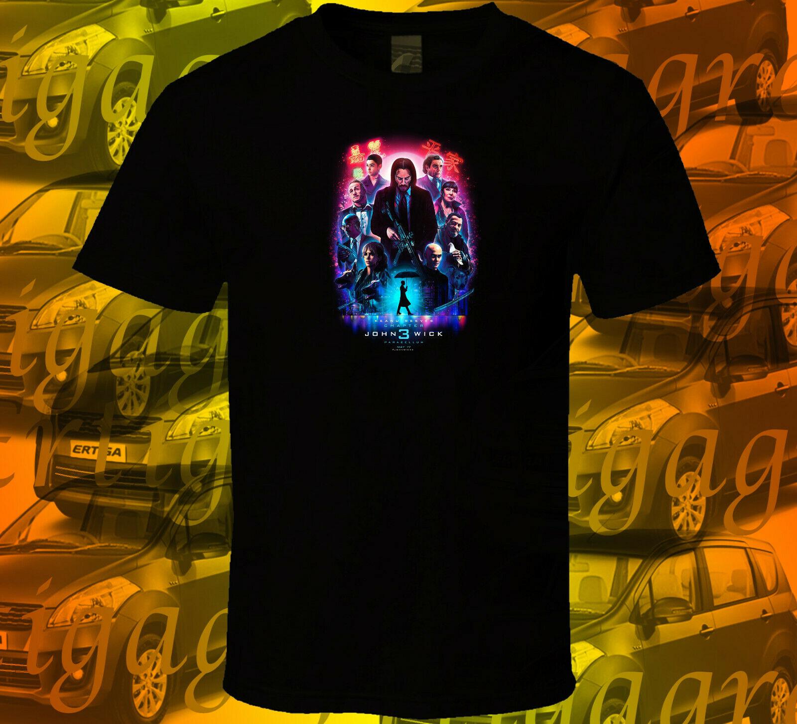 John Wick Chapter 3 V1 S 3XL Short Sleeve Black T Shirt 2018 New Pure Cotton Short Sleeves Hip Hop Fashion Mens T Shirt in T Shirts from Men 39 s Clothing
