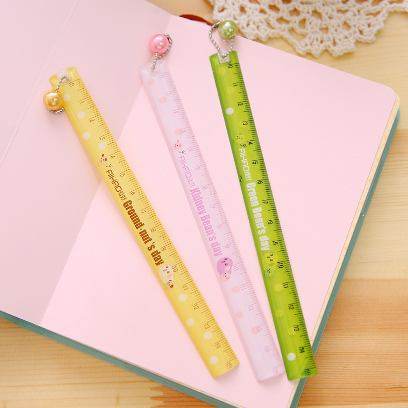 Drawing Accessories 15cm Cute Japanese Wooden Ruler Lace