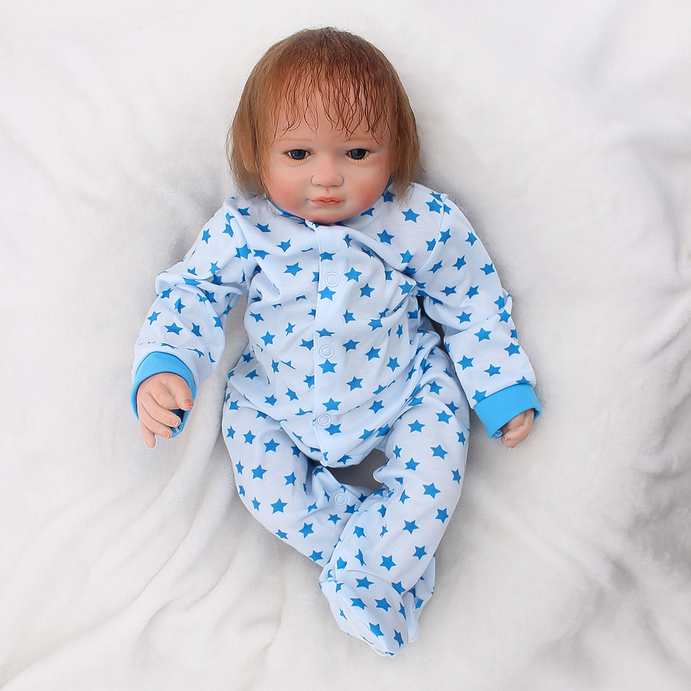 19/49cm soft lifelike reborn baby doll and Blue elephant gift bebe reborn doll playing diy toys for girls best Christmas Gift 19/49cm soft lifelike reborn baby doll and Blue elephant gift bebe reborn doll playing diy toys for girls best Christmas Gift