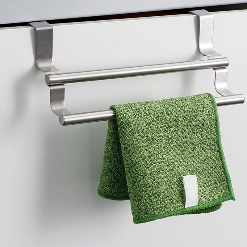 Kitchen Cabinet Towel Rack Stainless Steel Hook Type Towel ...