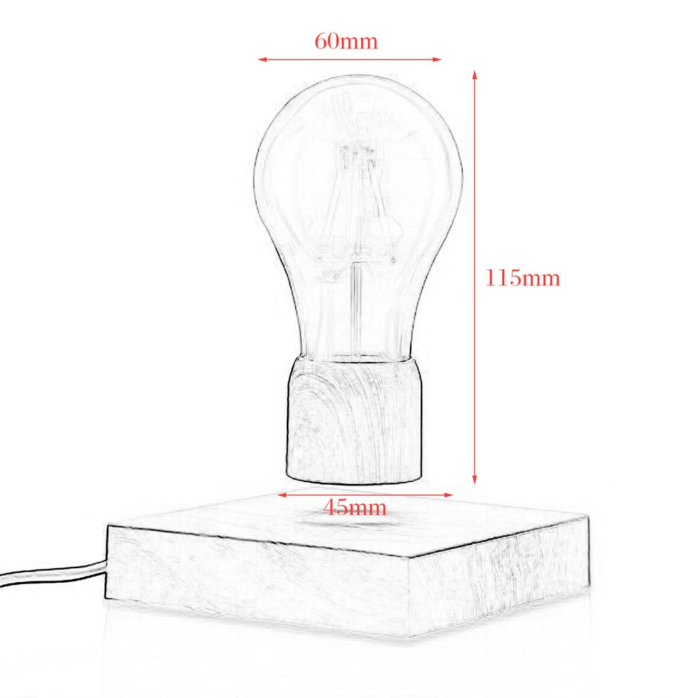 Levitating Edison Desk Lamp