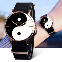 Womens Watches Eight-Diagram Tactics Casual Canvas Leather Watch