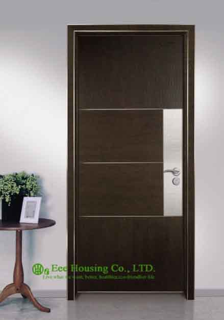 Commercial Ecological Interior Door For Sale, Aluminum Modern Door For Restaurant /Hotel Projects
