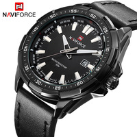 NAVIORCE Fashion Casual Sports Men Watches Men S Quartz Date Clock Man Leather Strap Army Military