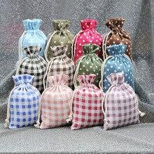 50 шт. Хлопковая Сумка креативный экологически чистый шнурок Хлопковая сумка маленькая смена сотовый телефон ключ сумка 2 размера