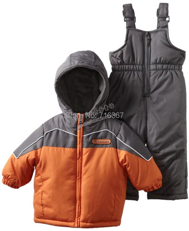 Free Shipping - retail children kids boys/girls snowsuit, kids ski suit, kids windproof jacket with pants(MOQ: 1 set) 2017 free shipping hot retail