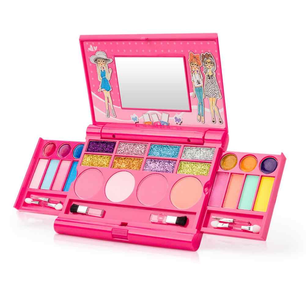 Princess Girls Cosmetics Play Set Palette Vanity with Mirror Washable and Non Toxic Makeup Kit for Kids