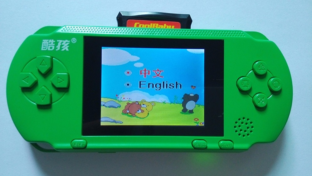 New Handheld Game Console 3.2 inch Color Screen Children Game Machine CoolBaby Built 318 Classic Games Support TV Game Player