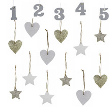 Pack Of 10pcs Christmas Decorations Gold Silver Glitter Hanging Ornamens For Merry New Years Birthday Decor