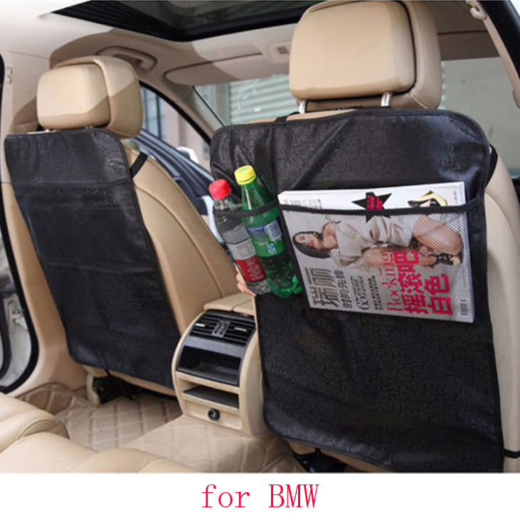 For BMW e46 e39 e36 e60 bmw e90 f30 X5 car seat covers baby Kick protector mats black beige waterproof car accessories interior