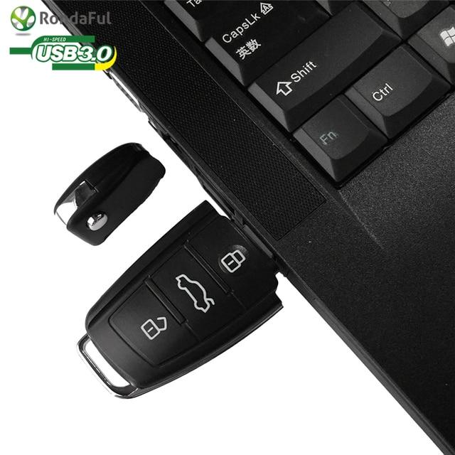 USB Flash Drive Pendrive USB 3.0 Audi Car Key 8/64/128GB Memory Stick Pen Drive U Disk for Popular Gift Real Capacity