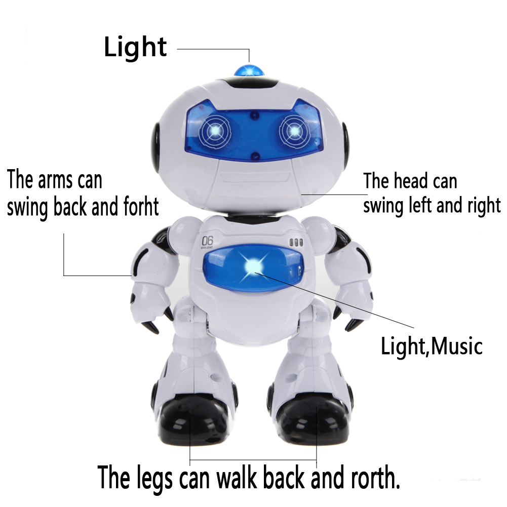RC Robot Toy Intelligent Remote Control Musical Electronic Walk Dance Lightening Intelligent Robot Kids Education Toy Gifts intelligent wireless remote control robot dog kids dancing walking dog