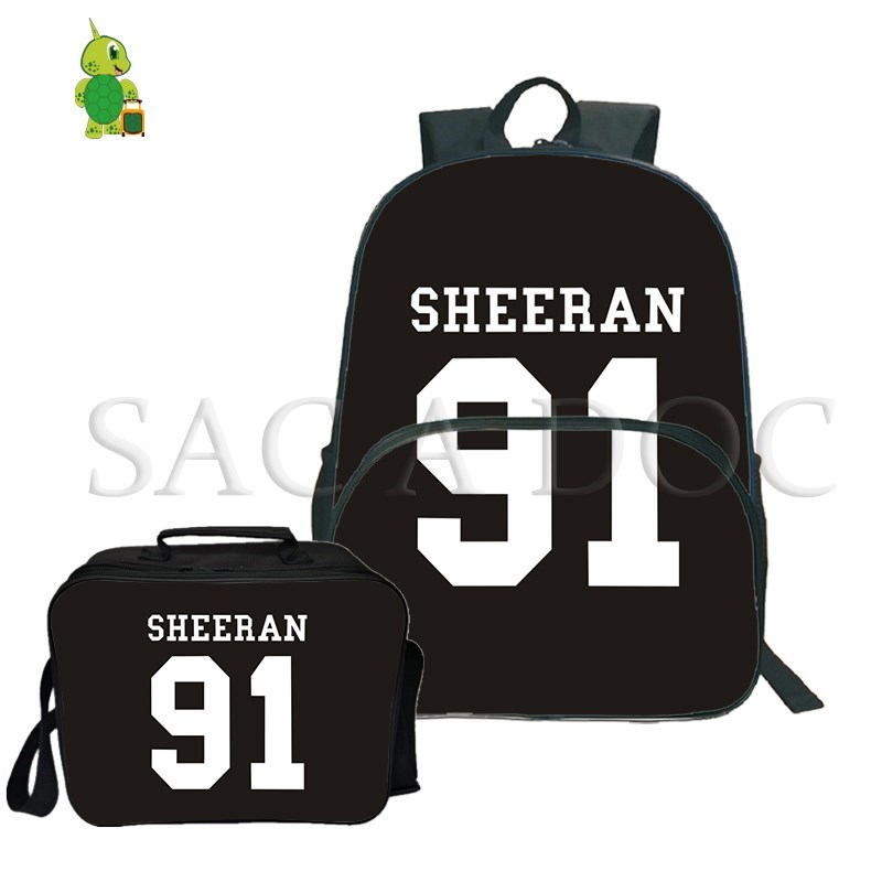 I Love Ed Sheeran 2Pcs/Sets School Backpack Women Men Laptop Travel Backpack for Teenagers Daily Backpack with Cooler BagI Love Ed Sheeran 2Pcs/Sets School Backpack Women Men Laptop Travel Backpack for Teenagers Daily Backpack with Cooler Bag