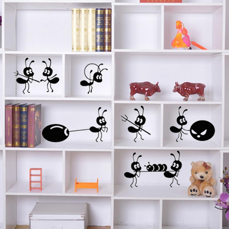 Ameisen Im Badezimmer | Diy Cartoon Ameise Wandaufkleber Dekoration Moving Ameisen