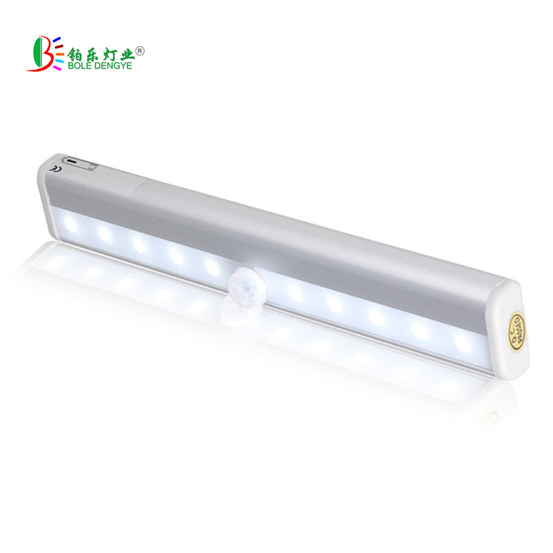 Portable Wall Lights: Portable LED Under Cabinet Light Motion Sensor Closet Wall