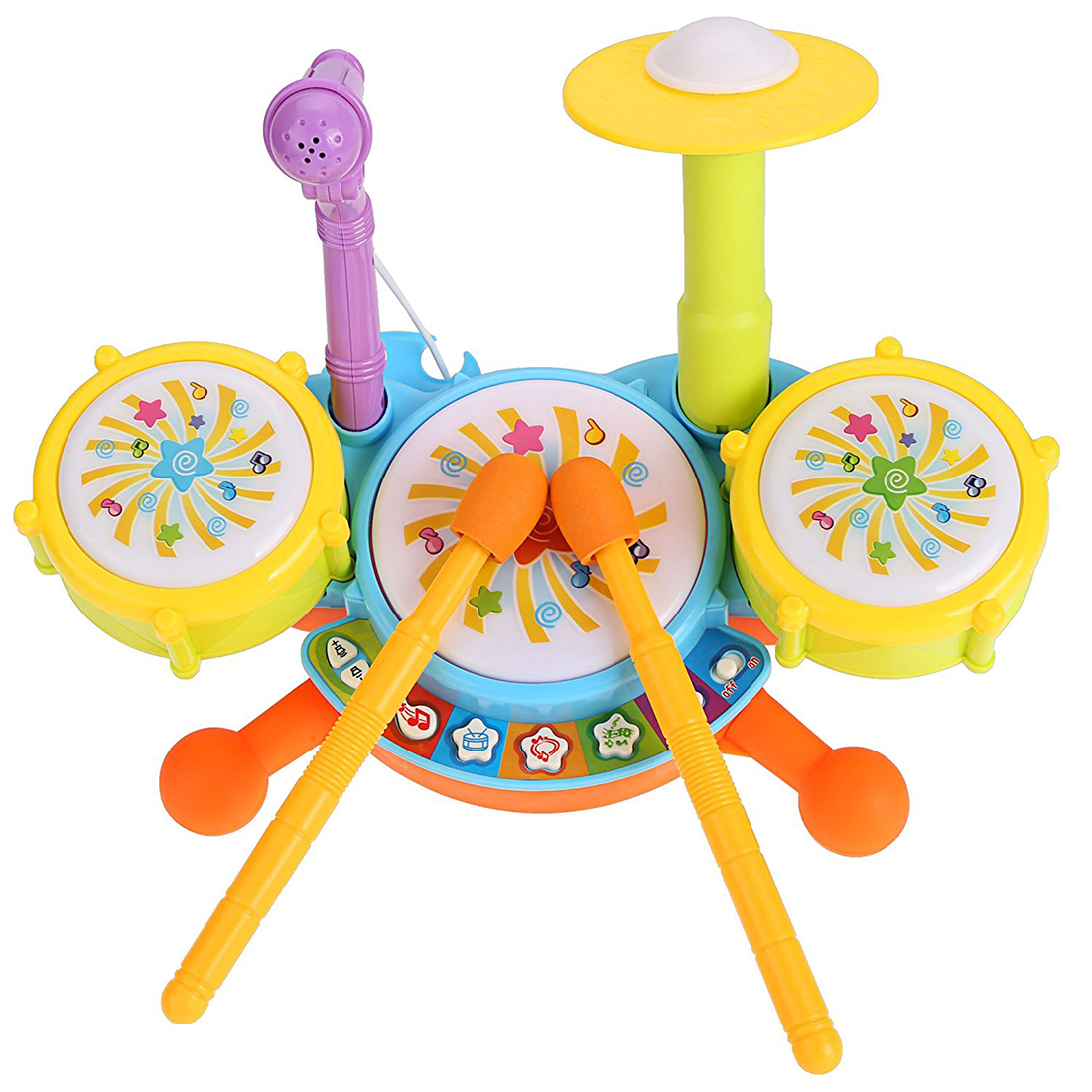 Kids Drum Set Educational Toys For Toddlers Gifts Music In