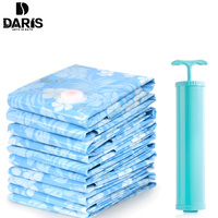 SDARISB Home Vacuum Compression Bag Clothing Fold Comforter Storage Bag Blue Waterproof Bag Luggage Storage Vacuum