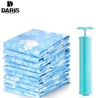 SDARISB Home Vacuum Compression Bag Clothing Fold Comforter Storage Bag Blue Waterproof Bag Luggage Storage Vacuum
