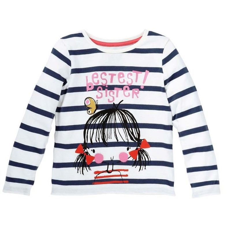 Baby Girls Tops Children T shirts Long Sleeve 2018 Autumn Kids Tee shirt Spring striped Brand t-shirt children Clothing autumn winter casual baby girls boys children clothing boys infants striped cotton long sleeve t shirt tops tee