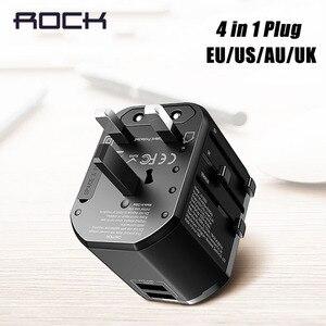 Image 1 - Đá Đa Năng Sạc USB Cho EU Mỹ Anh Âu, USB Adapter Cắm Dành Cho iPhone Samsung Huawei Xiaomi PD Sạc Nhanh Cắm Du Lịch