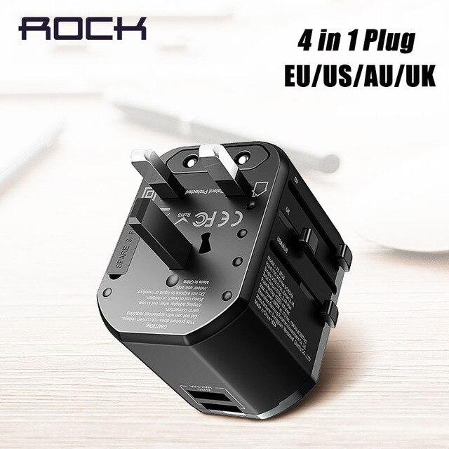 Đá Đa Năng Sạc USB Cho EU Mỹ Anh Âu, USB Adapter Cắm Dành Cho iPhone Samsung Huawei Xiaomi PD Sạc Nhanh Cắm Du Lịch