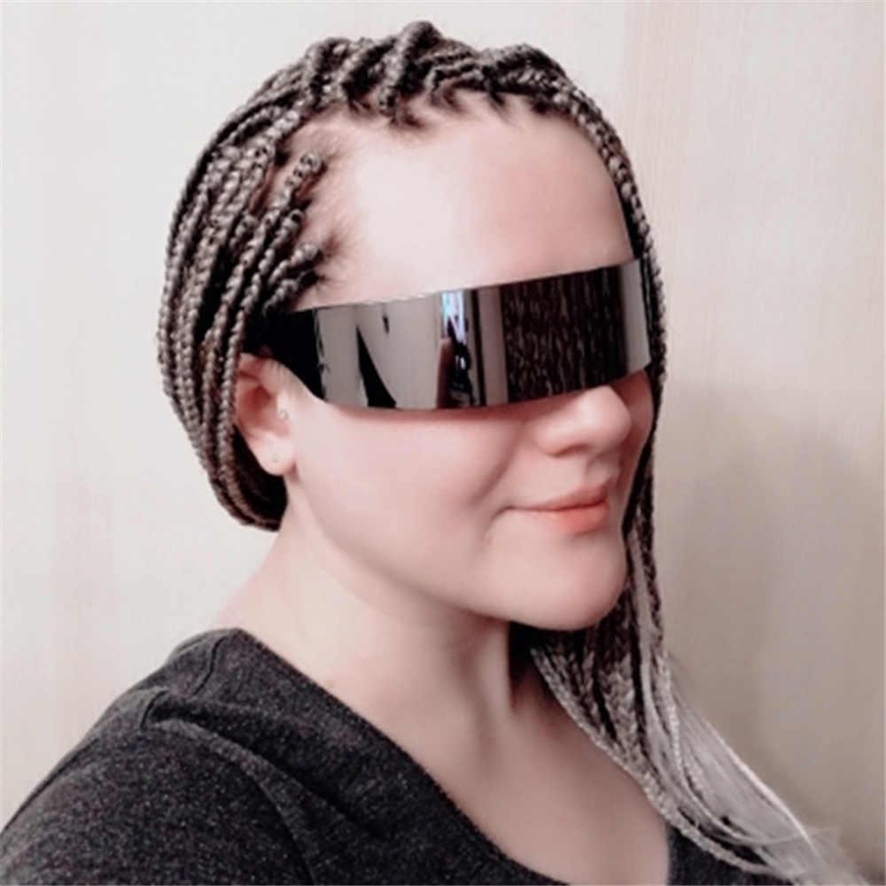 0ed2880e35 ... UVLAIK Funny Eyeglasses Futuristic Wrap Around Monob Costume Sunglasses  Mask Novelty Glasses Halloween Party Decoration