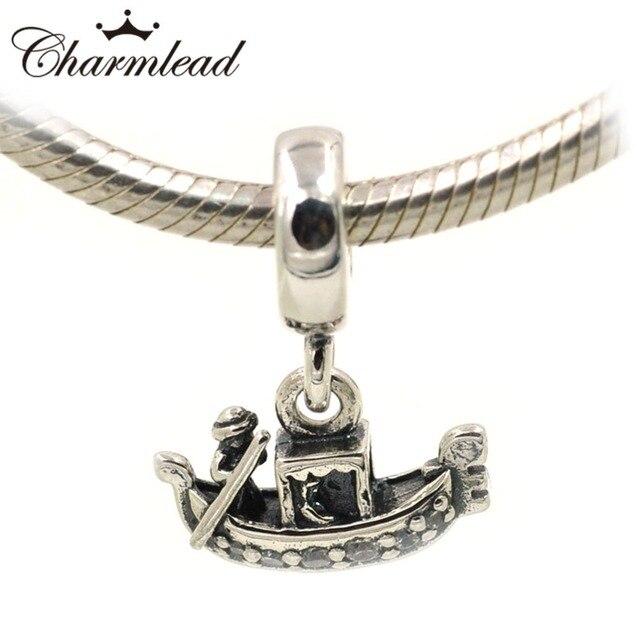 2bab7a21c185 Collar de pulsera con dijes de Pandora auténtico 925 cuentas de plata de  ley de góndola