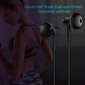 Xiaomi  Dual Drivers In-ear Earphone Gaming Music headset with Microphone Line Control