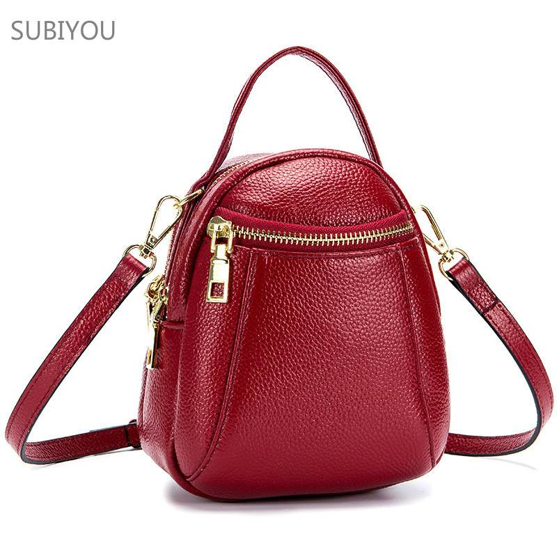obag mini Shoulder Bag heuptasje Red Bags for Women's Real Leather Bag Bolsos Mujer Torebka Damska Girl Mobile Phone circular