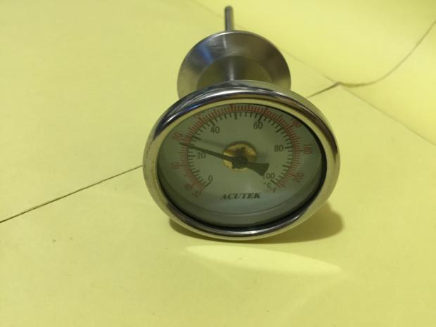 1.5 inch Tri Clamp Axial Bimetal Thermometer Stainless Steel 100C Degree
