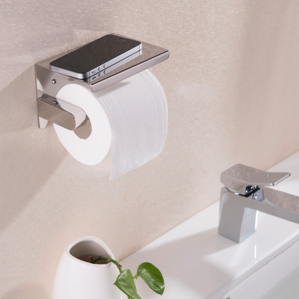Stainless bathroom accessories - Best 304 Stainless Steel Toilet Roll Paper Holder Tissue Box Bathroom Accessories China