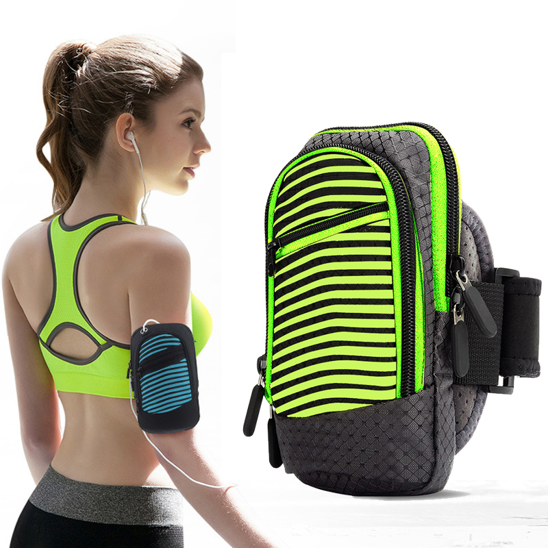 Mobile Phone Accessories Dashing Stripe Running Jogging Sport Armband Gym Arm Band Case Cover For Iphone 6/6 Plus 6s/6 Plus Universal For 4.2-5.8 Inch Phone