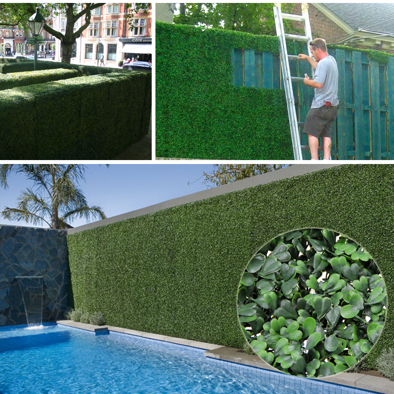 ULAND 3SQM Artificial Boxwood Hedges Panels 50x50cm/pc Outdoor Privacy Bushes Garden Screening...