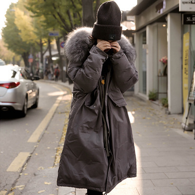 Fashion Big Fur Hooded Military Parka Plus Size Quilted Coat Winter Jacket Women 2017 Loose Oversize Down Cotton Outwear 2016 black big plus size korea fashion female outwear thick warm parka oversize fur duck down winter coat women retro with hood