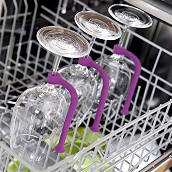 Новый гибкий держатель для вина из силикагеля, набор для посудомоечной машины, уникальная заставка, подставка для вина, держатель для посуд...